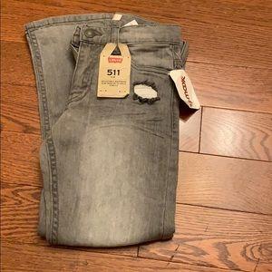 New Girls Levi's Gray Denim Jeans 7 Reg